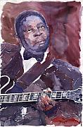 Figurative Prints - Jazz B B King Print by Yuriy  Shevchuk