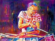 Drums Paintings - Jazz Beat by David Lloyd Glover