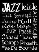 Jazz Digital Art - Jazz Dance Subway Art  Poster by Jaime Friedman