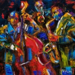 Jazz Print by Debra Hurd