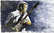 Guitarist Framed Prints - Jazz Eric Clapton 1 Framed Print by Yuriy  Shevchuk