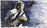 Jazz Eric Clapton 1 Print by Yuriy  Shevchuk
