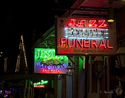 French Signs Art - Jazz Funeral by Cheri Randolph