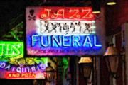 French Signs Art - Jazz Funeral Impasto by Kathleen K Parker
