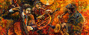 Instrument Paintings - Jazz Gold Jazz by Yuriy  Shevchuk