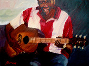 Jazz Painting Originals - Jazz Guitar by John Burrows
