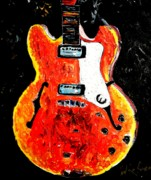 Jazz Painting Originals - Jazz Guitar by Neal Barbosa
