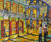 Original  By Artist Paintings - Jazz It Up New Orleans by Prankearts by Richard T Pranke