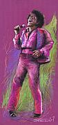 Musicians Pastels Prints - Jazz James Brown Print by Yuriy  Shevchuk
