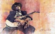 Jazz John Lee Hooker Print by Yuriy  Shevchuk