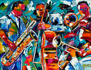 Jazz Magic Print by Debra Hurd