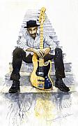 Marcus Paintings - Jazz Marcus Miller 4 by Yuriy  Shevchuk