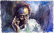 Miles Framed Prints - Jazz Miles Davis 11 Framed Print by Yuriy  Shevchuk