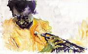Trumpeter Art - Jazz Miles Davis 7 by Yuriy  Shevchuk