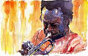 Miles Framed Prints - Jazz Miles Davis 8 Framed Print by Yuriy  Shevchuk
