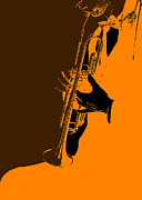 Musician Digital Art Posters - Jazz Poster by Irina  March