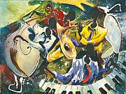 African Art Posters - Jazz no. 1 Poster by Elisabeta Hermann