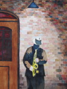 Jazz Painting Originals - Jazz on the Street - SOLD by Linda Smith