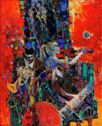 Jazz Painting Originals - Jazz Orchestra 4 by George Pali