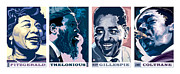 Thelonius Monk Framed Prints - Jazz Portrait Series Framed Print by Garth Glazier