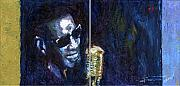 Oil On Canvas Metal Prints - Jazz Ray Charles Song Metal Print by Yuriy  Shevchuk