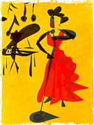 Jazz Review Print by Betsey Walker Culliton