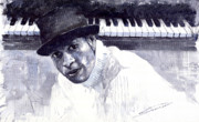 Piano Paintings - Jazz Roberto Fonseca by Yuriy  Shevchuk