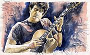 Impressionist Posters - Jazz Rock John Mayer 06 Poster by Yuriy  Shevchuk