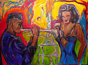 Jazz Painting Originals - Jazz Seduction by Georganne Bishop