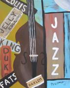 Louis Paintings - Jazz by Sherry Haney