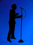 Microphone Stand Prints - Jazz Singer Print by Julie Brugh Riffey