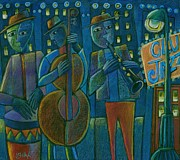 Crowd Scene Art - Jazz Time at Club Jazz by Gerry High