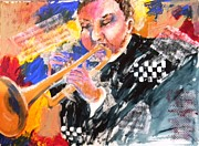 Jazz Painting Originals - Jazz Trumpeter by Tricia PoulosLeonard