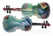 Tim Nyberg Mixed Media - Jazz Violin - poster by Tim Nyberg