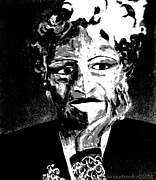 Vocalist Drawings Prints - Jazz Vocalist - A Study of the Grayscale Print by Forartsake Studio