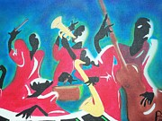 Jazz Painting Originals - Jazzen It Up by Damion Powell