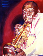 Jazz Posters Posters - Jazzman Cootie Williams Poster by David Lloyd Glover