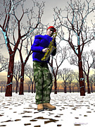Trumpeters Prints - Jazzmas In The Park 3 Print by Walter Neal