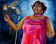 Jazzy Lady Print by Linda Marcille