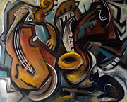Jazz Painting Originals - Jazzz by Valerie Vescovi