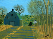Road Sign Paintings - Jct 131 by Laurie Breton