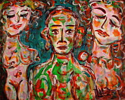 Outsider Art Paintings - Jealousy 2 by Natalie Holland