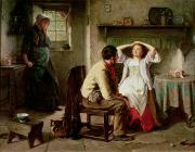 Flirtation Paintings - Jealousy and Flirtation by Haynes King