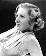 1930s Hairstyles Framed Prints - Jean Arthur, Ca. 1938 Framed Print by Everett