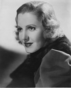 Fur Stole Prints - Jean Arthur, Columbia Pictures, 1936 Print by Everett