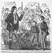 Jean Eugene Robert Houdin (1805-1871). French Magician. Wood Engraving, C1880, From An American Edition Of Houdins Autobiography, Depicting His First Childhood Encounter With A Street Magician Print by Granger