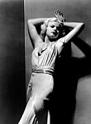 Harlow Framed Prints - Jean Harlow, 1930s Framed Print by Everett