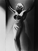 Harlow Framed Prints - Jean Harlow, 1935 Framed Print by Everett
