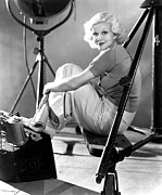 On-set Prints - Jean Harlow, Ca. 1934-35 Print by Everett