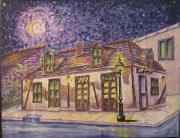Jean Lafitte Blacksmith Shop Bourbon Street New Orleans Print by Catherine Wilson